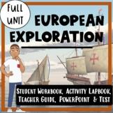 European Exploration Unit- Reading Passages, Lapbook, PowerPoint, and Test!