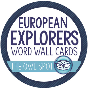 European Exploration Vocabulary / Word Wall Cards