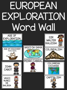 European Exploration Word Wall