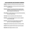 European Exploration and Colonization Quiz