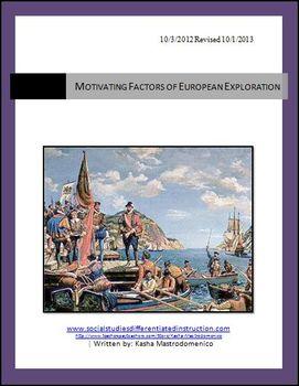 European Exploration and Settlement Mini Unit Bundle