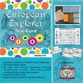European Explorers Task Card BINGO (Two Versions)