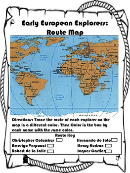 European Explorer Routes Map