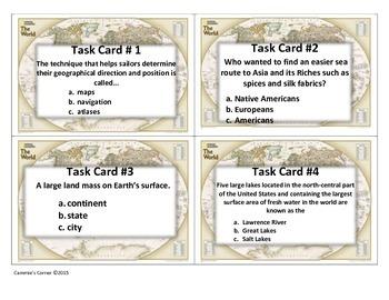 European Explorer Task Cards