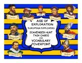 European Explorers:  Scavenger Hunt Task Cards and Vocabul