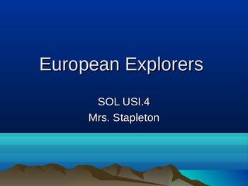 European Explorers 5th grade History: Champlain, Coronado, etc.