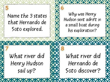 European Explorers Age of Exploration Review Task Cards - Set of 28
