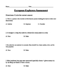 European Explorers Assessment