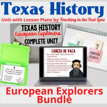 European Explorers in Texas Bundle with Lesson Plans