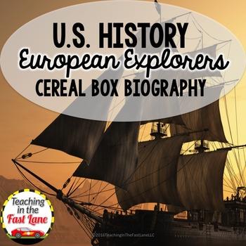 European Explorers Cereal Box Biography  (U.S. History)