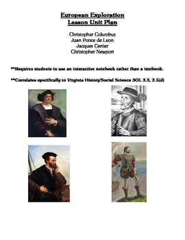 European Explorers - Complete Lesson Unit with Materials