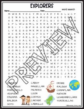 European Explorers Crossword and Word Search Find Activities