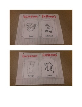 European Explorers Flash Cards and Sort
