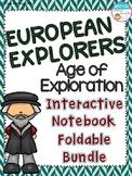 European Explorers - Age of Exploration Interactive Notebook Foldable Bundle