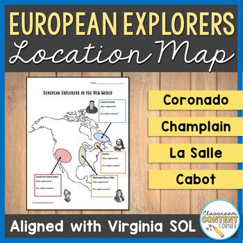 European Explorers Graphic Organizer 2