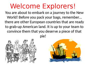 European Explorers Group Activity Instructions Powerpoint