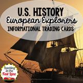 European Explorers Informational Trading Cards (U.S. History)