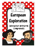 European Explorers Interactive Notebook Components
