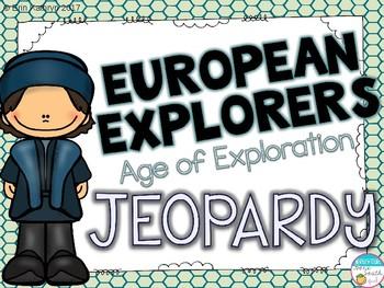 European Explorers Jeopardy Review Game- Columbus, Leon, Cabot, Hudson
