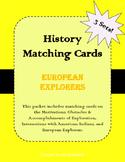European Explorers (Exploration of the U.S.) Matching Card