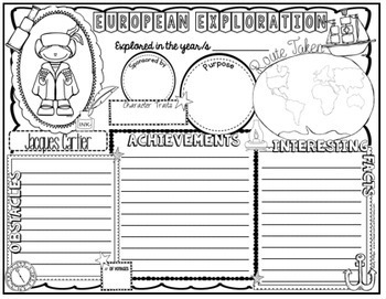 Explorers Activity: European Explorers Posters (research)