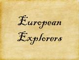 European Explorers Poster Set (Maps and Portraits)