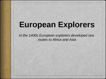 European Explorers PowerPoint Presentation