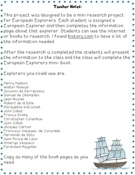 European Explorers Research Project