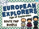 European Explorers Age of Exploration Route Map Set