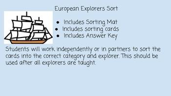 European Explorers Sort SS4H2