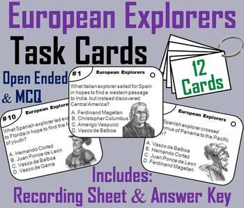 Early European Explorers Task Cards