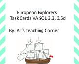 European Explorers Task Cards  Sol 3.3, 3.5d