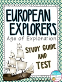 European Explorers - Age of Exploration Study Guide and Test