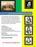 Early European Explorers Unit: Cabot, Champlain, Coronado, LaSalle, and Portugal