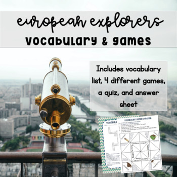 European Explorers Vocabulary Activities