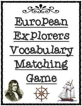 European Explorers Vocabulary Matching Game