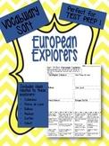 European Explorers Vocabulary Word Sort