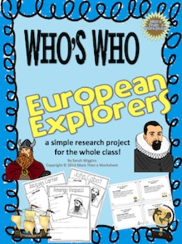 European Explorers Who's Who (Research Project with Creati