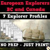 European Explorers in BC & Canada