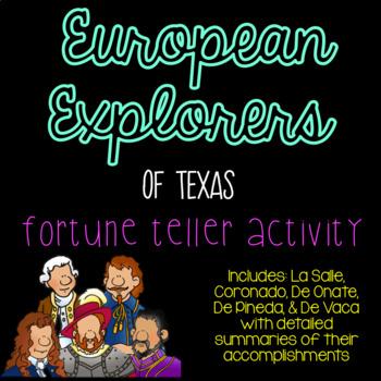 European Explorers of Texas Cootie Catcher