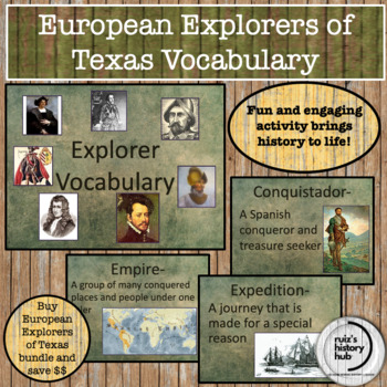 European Explorers of Texas Vocabulary PP