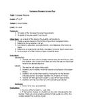 European Figure Resume Lesson Plan