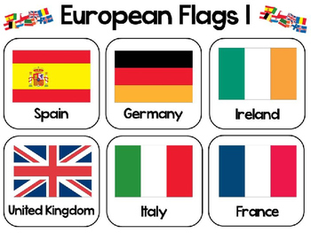 European Flags Colouring Activity