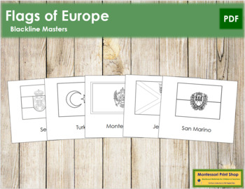 European Flags: Outlines