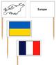 European Flags - Pin Map Flags
