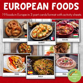 European Foods Montessori 3 Part Cards