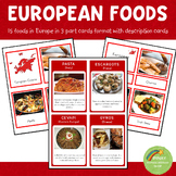 European Foods Montessori 3 Part Cards