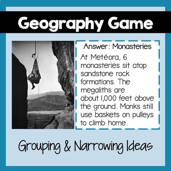 Geography Game: Europe's 48 Countries, Answer Key, PowerPoint, Maps, Photographs