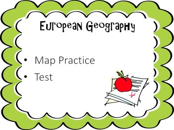 European Geography Activity and Map Test