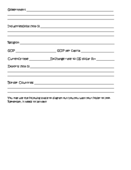 European Geography File Folder Project and Scavenger Hunt